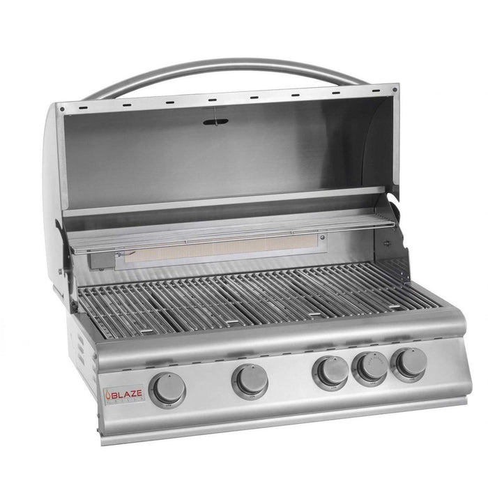 "Blaze 32"" 4-Burner Built-In Grill with Rear Infrared Burner"