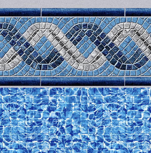 Braided River Tile, River Mosaic Floor In Ground Pool Liner