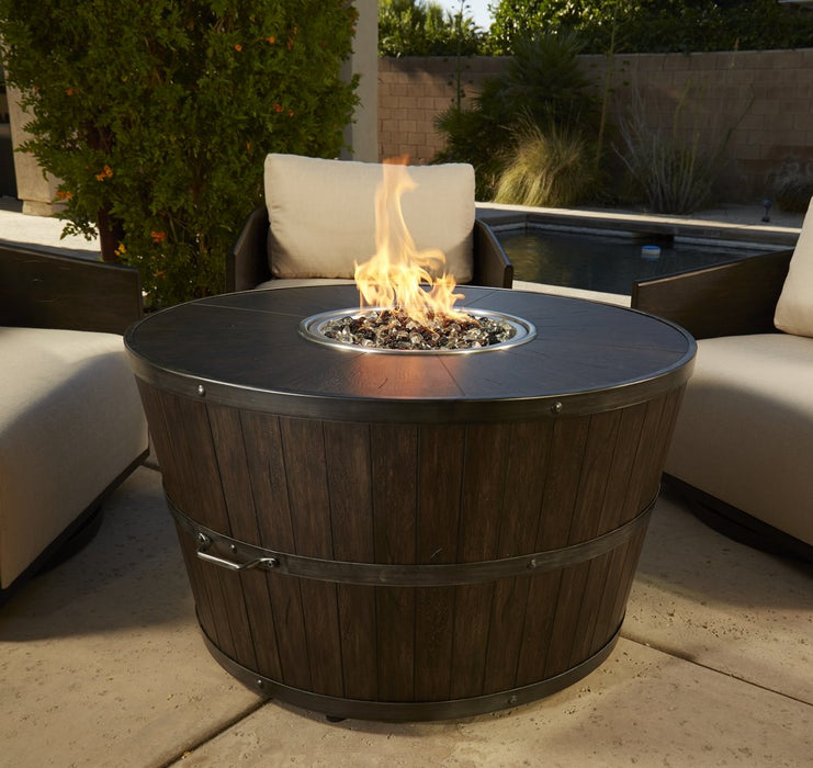 "Old World Barrel 42"" Round Fire Pit"