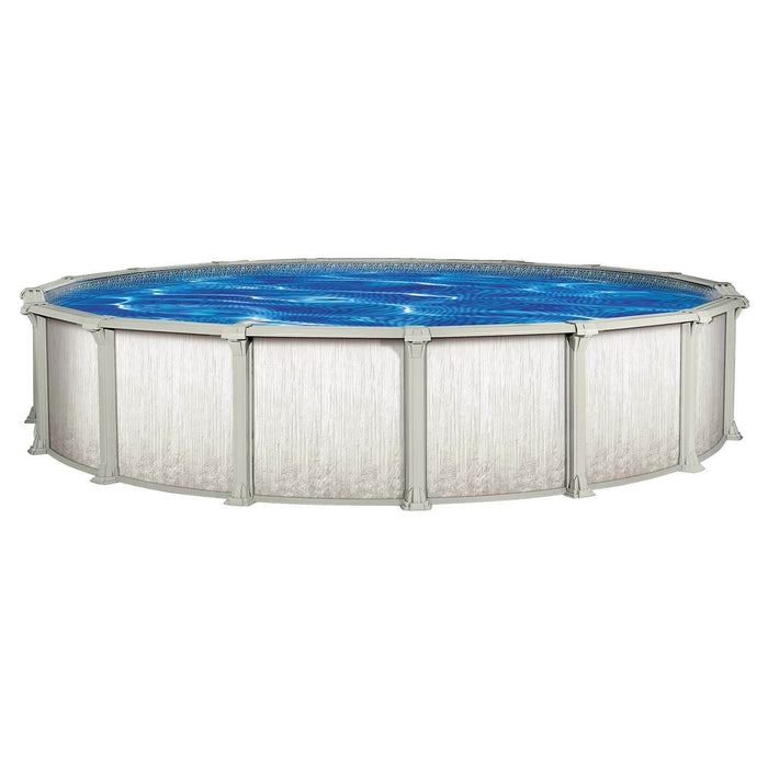 Cypress LX Round Above Ground Pool Kit (Silver)