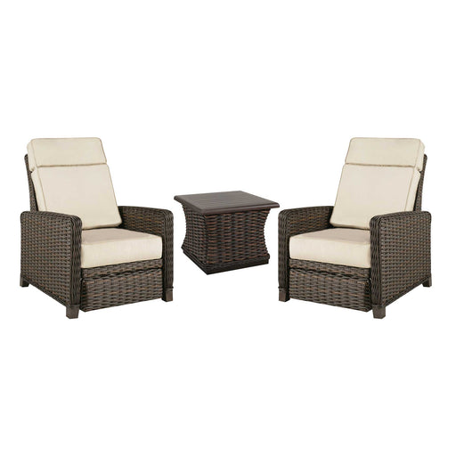 Catalina Woven Outdoor Chat Set on a white background