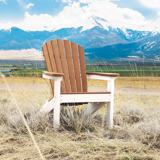 Comfo-Back Stationary Adirondack Chair sitting in a field