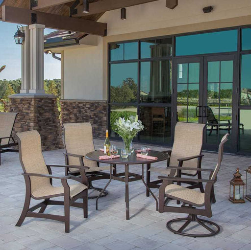 "Covina 48"" Sling Patio Dining Set"