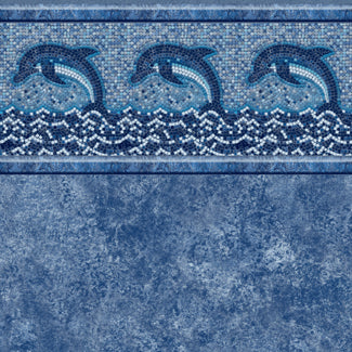 Dolphin Mosaic Tile, Avelino Floor In Ground Pool Liner