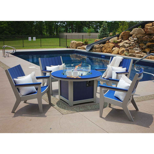 "Berlin Gardens Donoma 44"" Round Fire Pit Table"