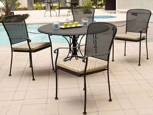 Fullerton Wrought Iron Dining Set by Woodard