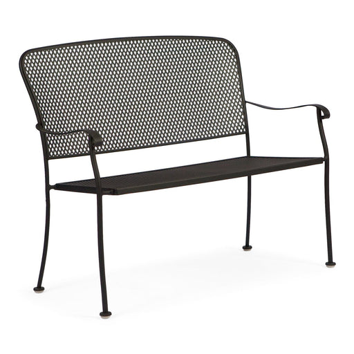 Fullerton Wrought Iron Stackable Bench by Woodard
