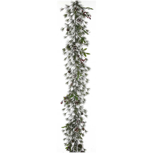 "Bristleberry 6'x12"" Pre-Lit Christmas Garland (50 CL) by Regency Trees - GBB612L"