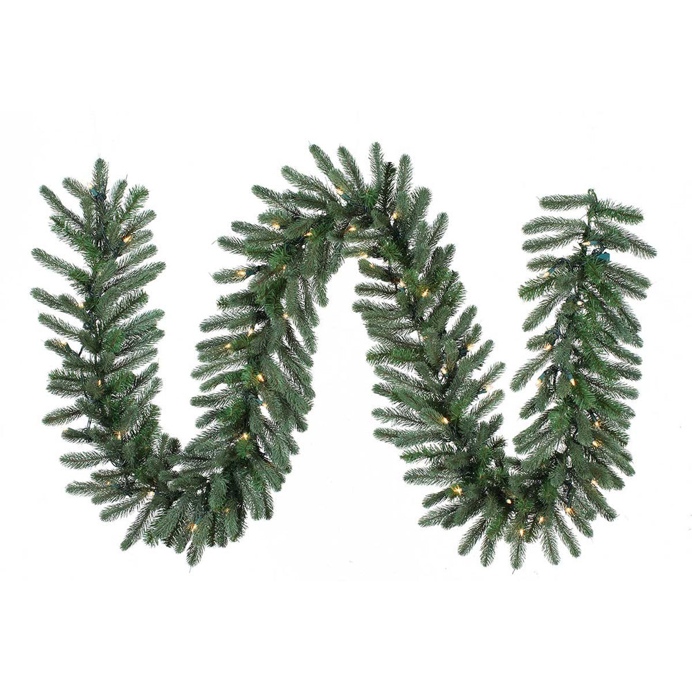 "Frosted Pine 9'x14""  Pre-Lit Garland by Santa'S Own - GFP914L"
