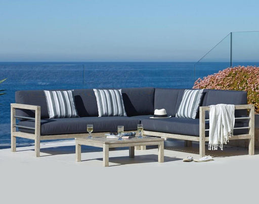 Hayman 4 Piece Modular Lounge Set by WORLD OUTDOORS