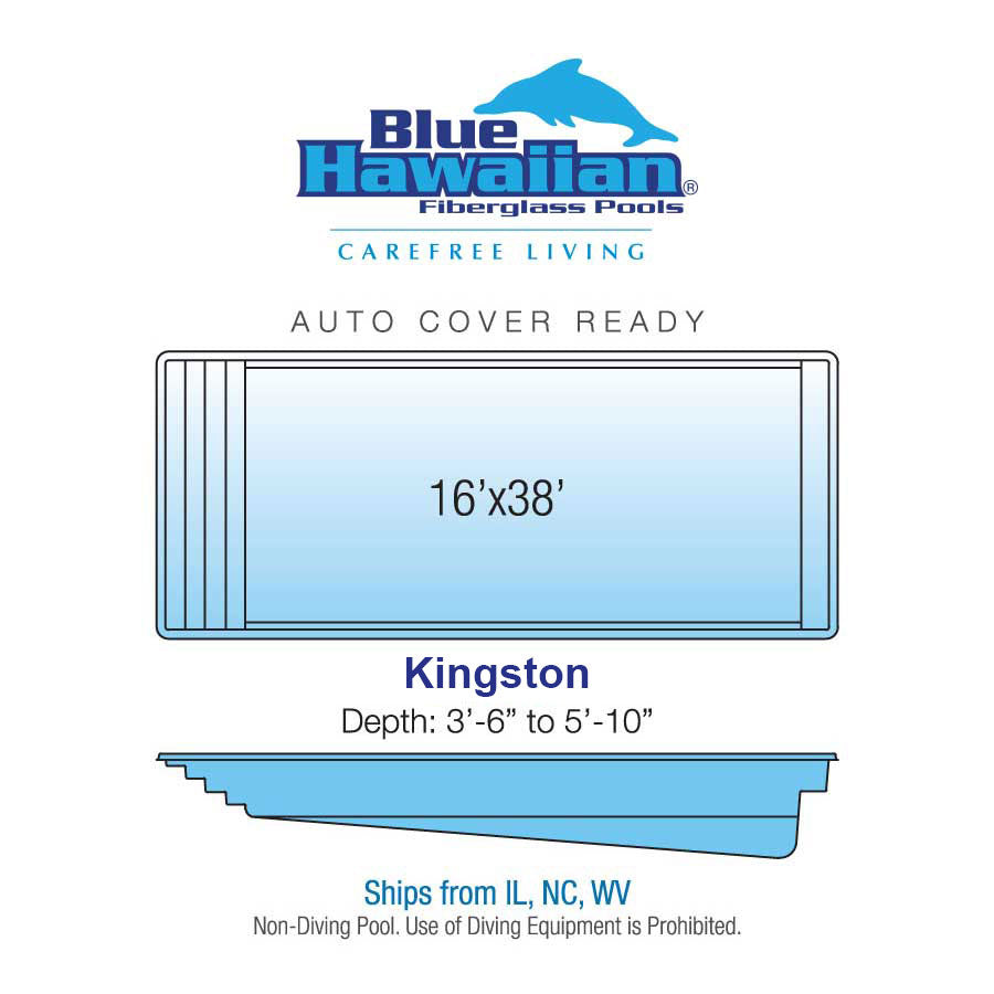 Kingston Fiberglass Rectangle Pool
