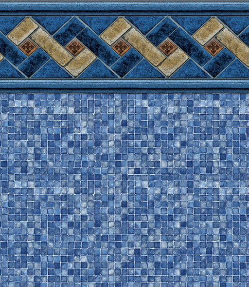 Mountain Top Blue Mosaic In Ground Pool Liner