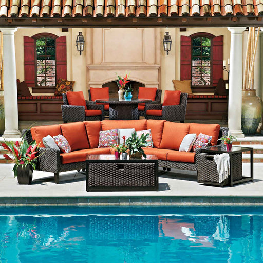 Mona Outdoor Sectional Set (Spectrum Indigo) by Woodard