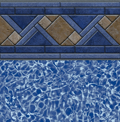 North Shore Tile, Blue Bahama Floor In Ground Pool Liner