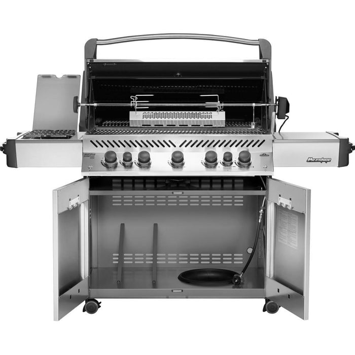 Prestige ® 665 Stainless Steel Propane Gas Grill with Infrared Side and Rear B