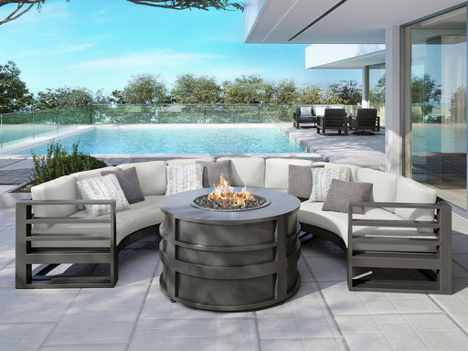 Palermo Curved Sectional Fire Pit Set by Ebel