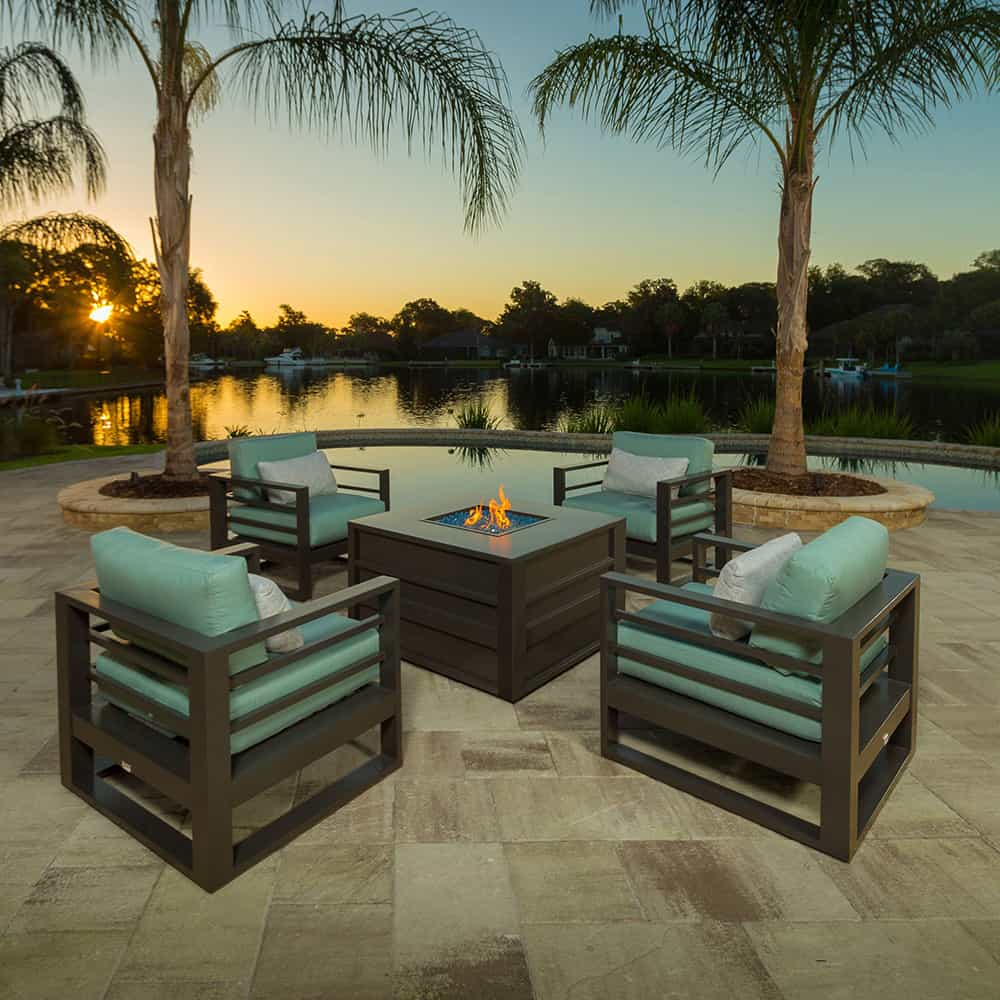 Palermo Fire Pit Chat Set by Ebel