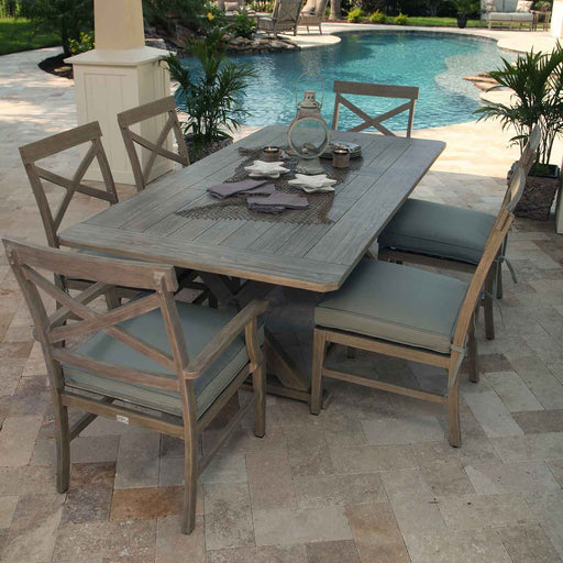 "Portofino 82"" Rectangular Patio Dining Set by Ebel"