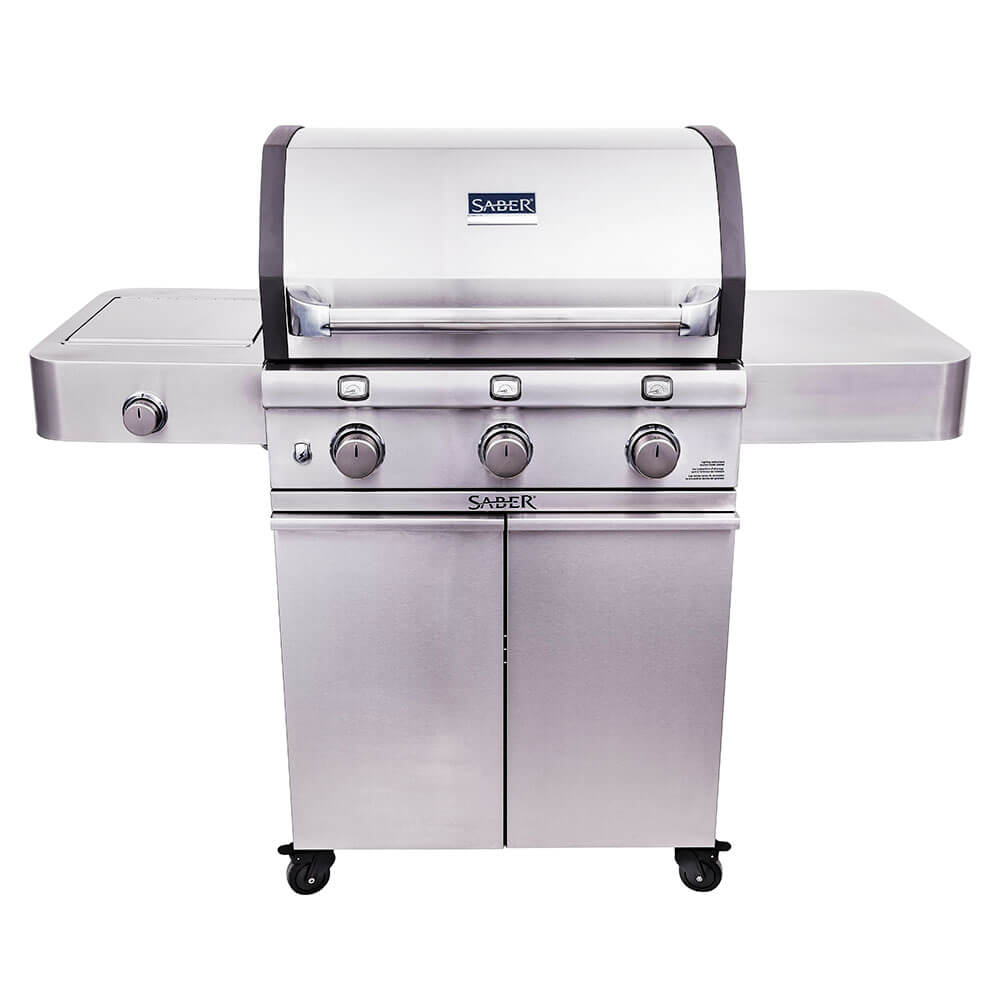 Saber Cast Stainless 3-Burner Gas Grill