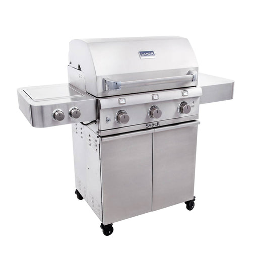 32-Inch 3-Burner Infrared Propane Gas Grill With Side Burner - Saber 500
