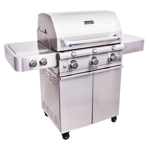 "Saber 500 32"" 3-Burner Infrared Propane Gas Grill With Side Burner"