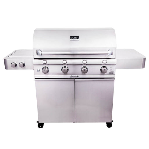 "Saber 670 40"" 4-Burner Infrared Propane Gas Grill With Side Burner"