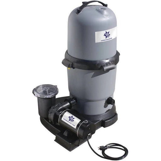 Above Ground 220 Cartridge Filter w/ 2 HP Pump Combo