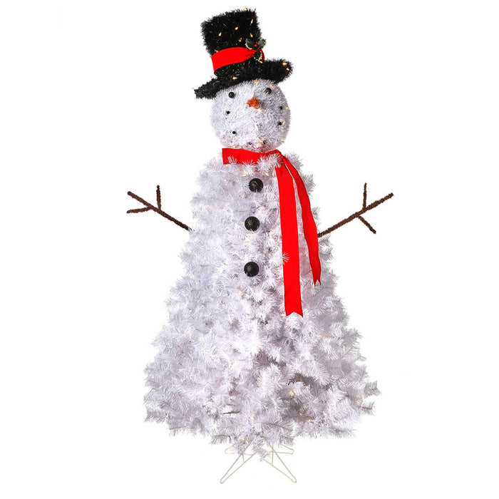 Outdoor Snowman 6' Pre-Lit Permanent Christmas Tree (500 LED CL) by Regency Trees - SNOWMAN
