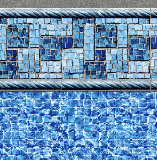Summer River Tile, River Mosaic Floor In Ground Pool Liner