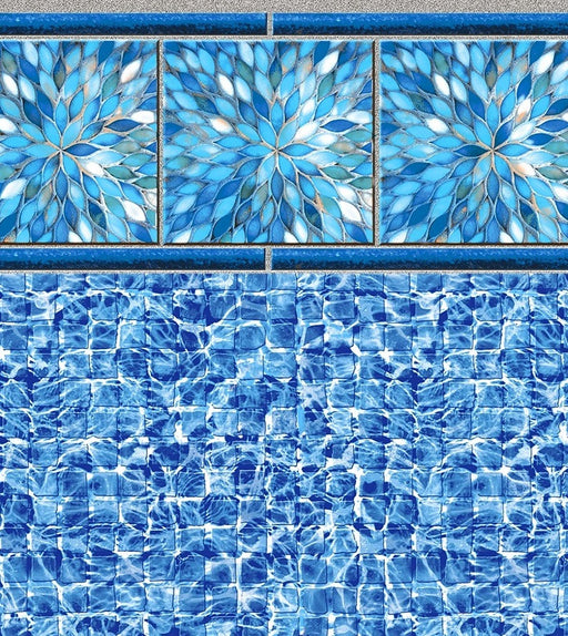 Sunburst River Tile, River Mosaic Floor In Ground Pool Liner
