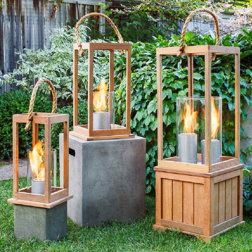 Terra Flame Sonoma Lantern Set - Base and Lantern