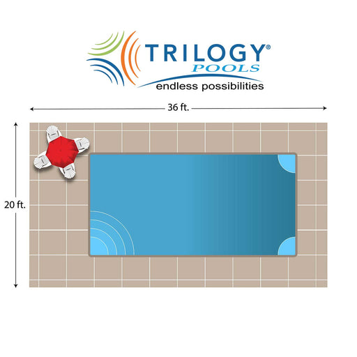 Helios Rectangle Fiberglass Pool Installation - Chattanooga TN