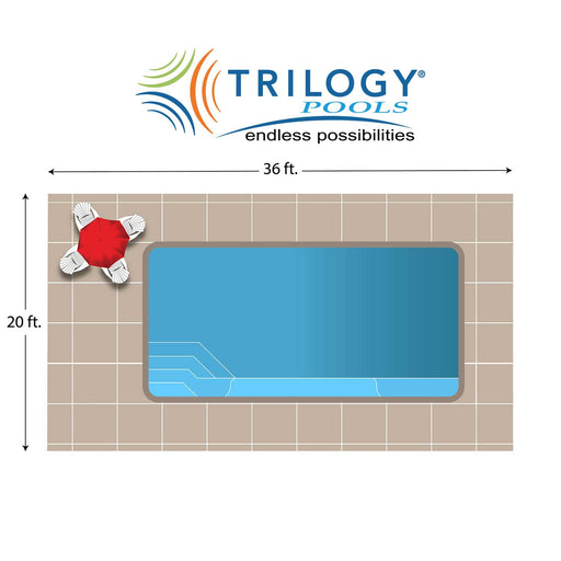 Sirius Rectangle Fiberglass Pool Installation - Chattanooga TN