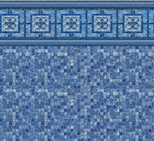 Vintage Mosaic Blue Mosaic In Ground Pool Liner