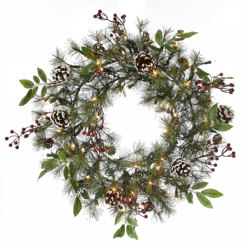 "Bristleberry 24""  Christmas Wreath (Unlit) by Regency Trees - WBB24"