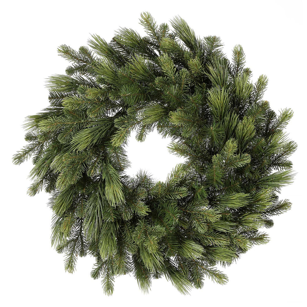 "Dlx Mixed Pine PE 30"" Christmas Wreath (Unlit)"