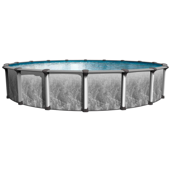 Grey Avalon Round Above Ground Pool Kit (Silver)