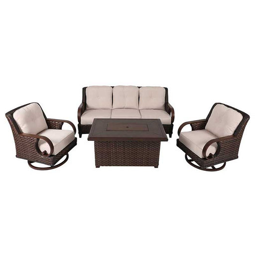 Brooks 4 Piece Seating Set w/Fire Pit