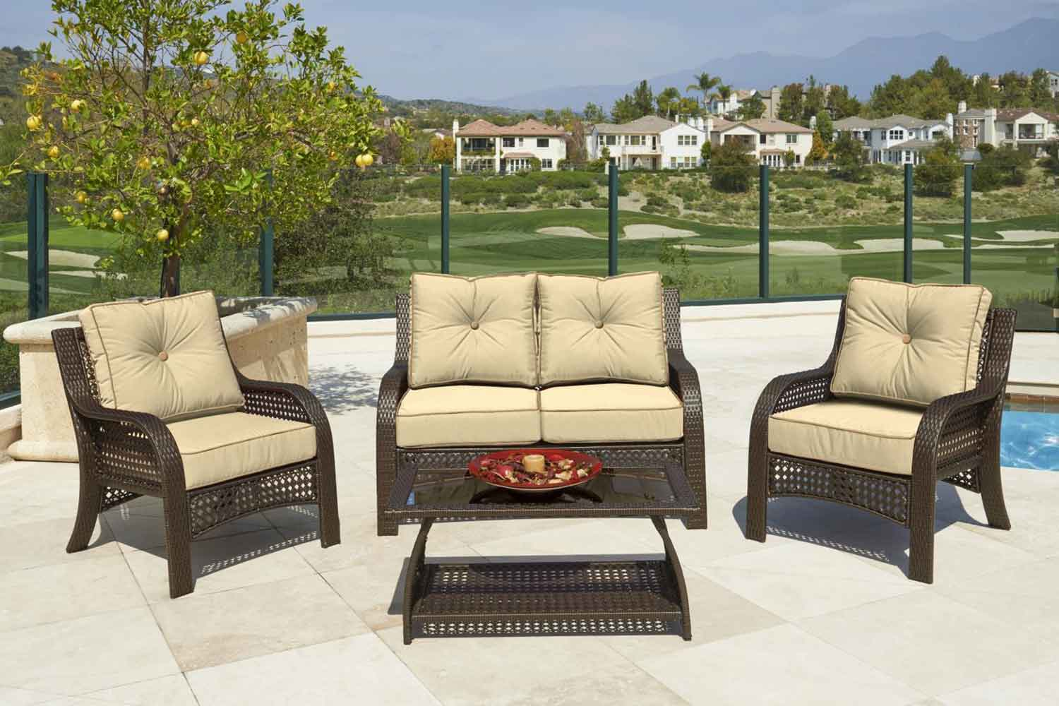 Chelsea Outdoor Loveseat Set (Beige) by NCI North Cape International