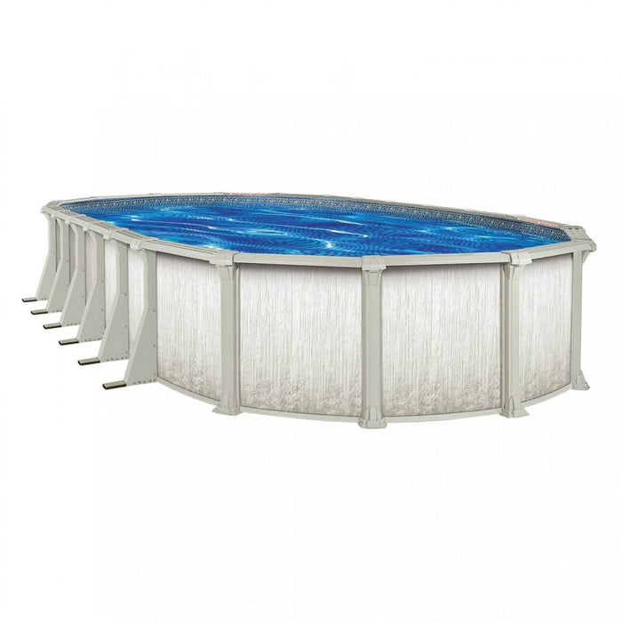 Cypress LX Oval Above Ground Pool Kit (Silver)