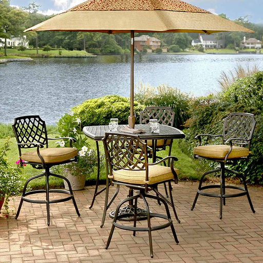 "Heritage 42"" Square Bar Height Patio Dining Set"