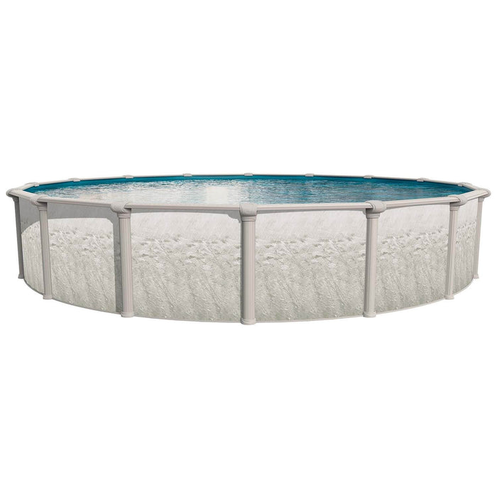Heritage Round Above Ground Pool Kit (Silver)