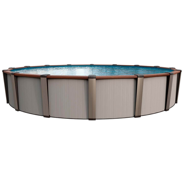 Luxor Round Above Ground Pool Kit (Silver)