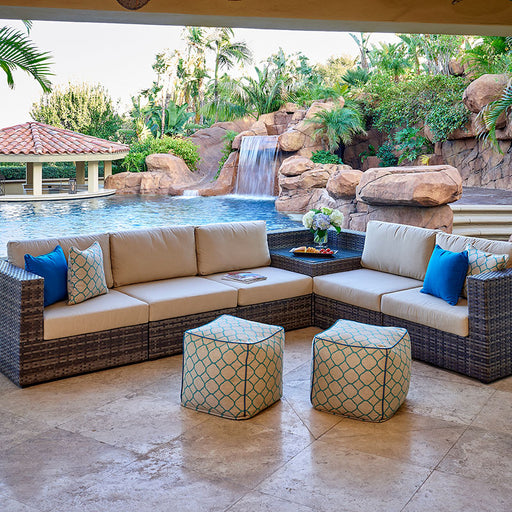 Products Regent Outdoor Woven Sectional Set