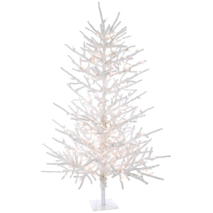Twig Flocked 7' Christmas Tree by Sullivans