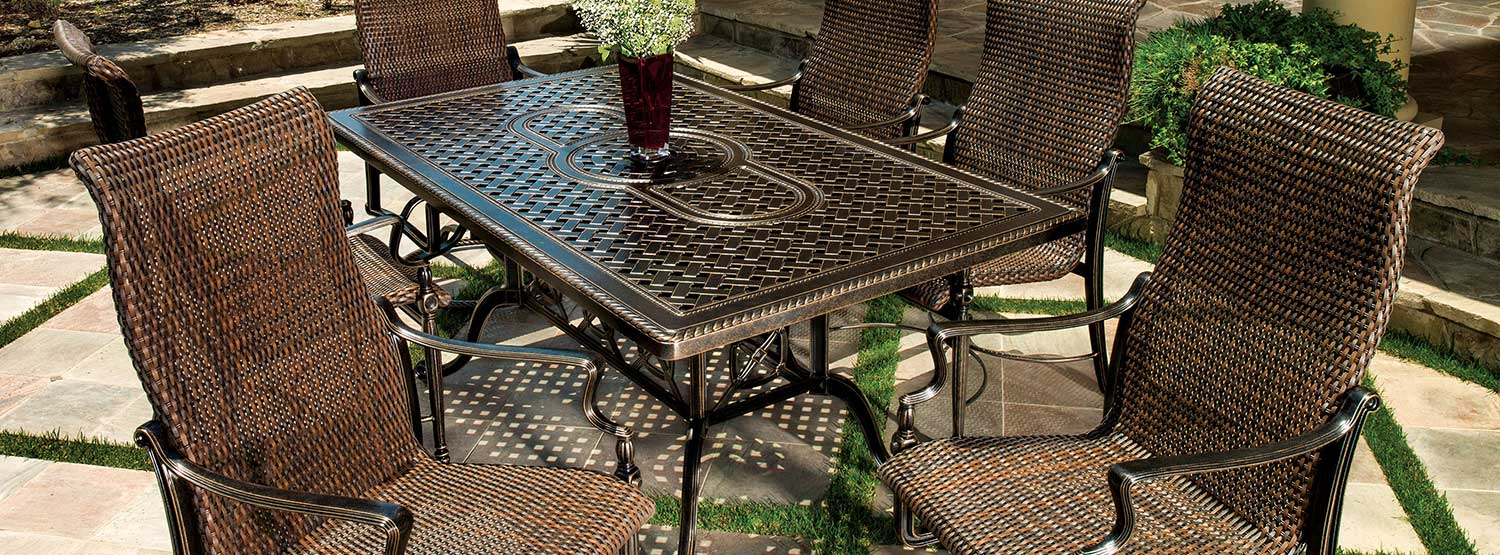 Grand Terrace Cast Aluminum 54''  Round Counter / Gathering Table Set by Gensun