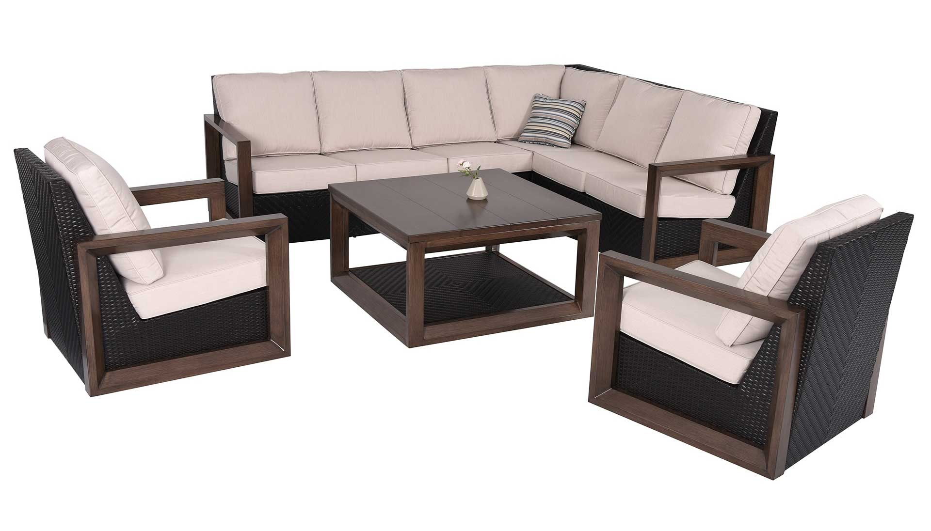 Delano 5 Piece Outdoor Sectional Set by Patio Time