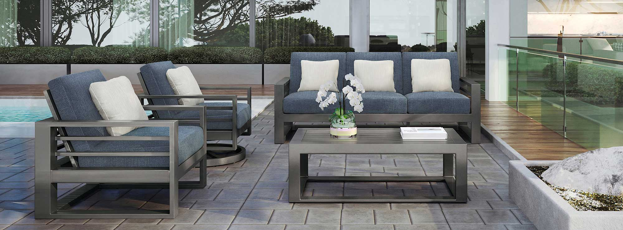 PALERMO HIGH BACK SOFA SET W/CHAT TABLE