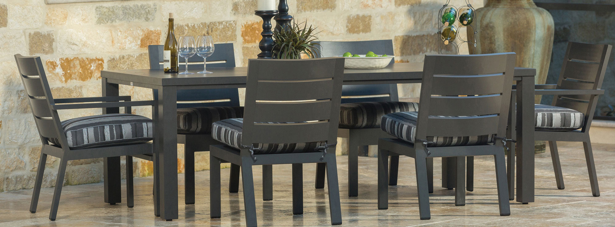 Palermo Aluminum Patio Dining Set by Ebel