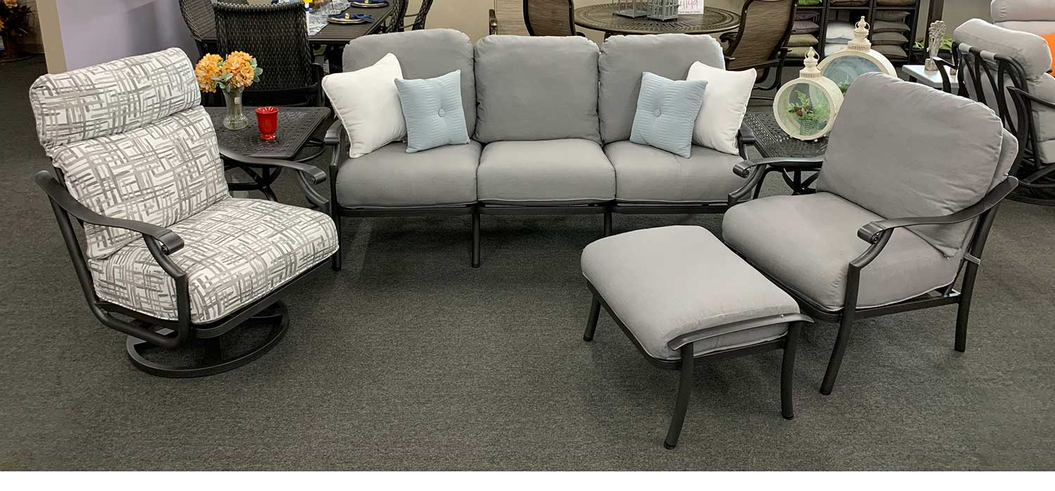 Stock Montreux Aluminum Outdoor Sofa Set in Knoxville, TN